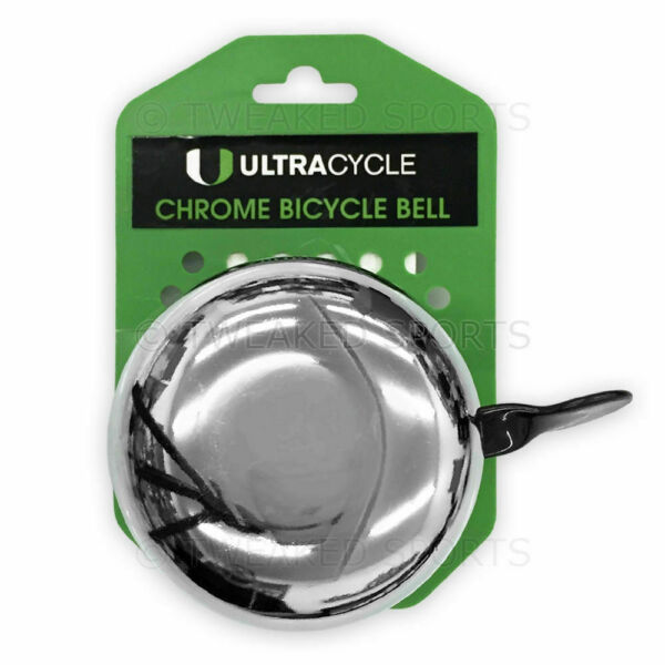 Ultracycle Big Donger Chrome Bicycle Bell Bike Loud Kids Large Classic 3 inch $12.88
