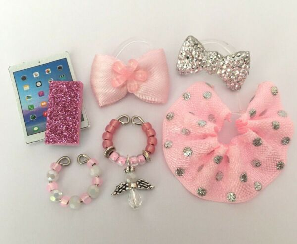 7 PC Clothes Accessories Custom Lot for Littlest Pet Shop LPS Skirt Bows Collars