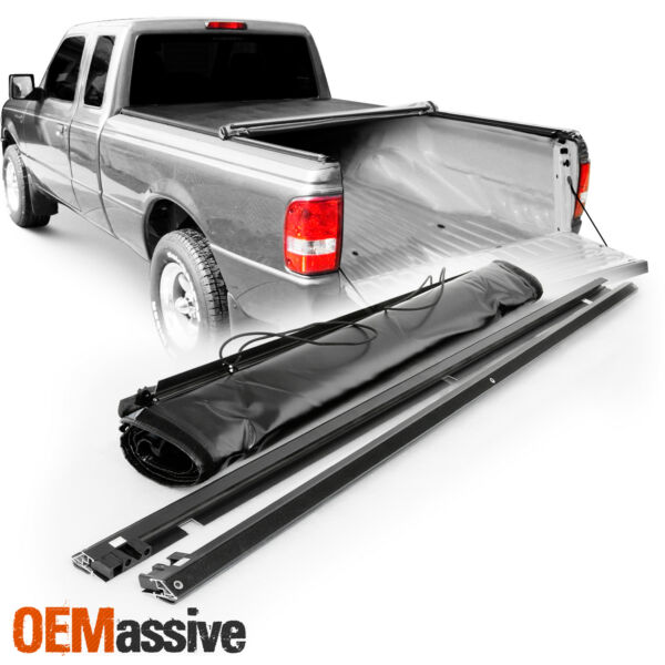 Tonneau Cover For 1993-2011 Ford Ranger 6 Ft 72 Inch Bed Flareside Soft Roll Up