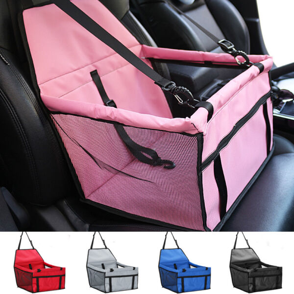 Pet Travel Safety Carry Bag Basket Dog Booster Car Seat Cover Pad Mat Waterproof $16.89