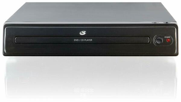 GPX D202B Compact Progressive Scan 2Channel DVD Player with Remote Control Black