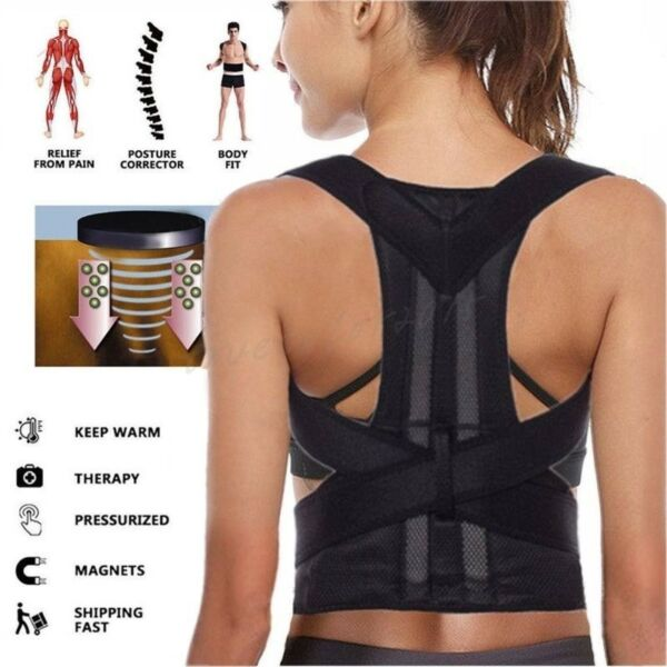 Women Medical Scoliosis Posture Corrector Spine Back Support Shoulder Brace Belt