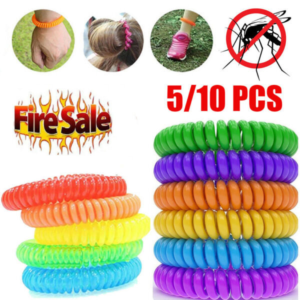 510x Anti Mosquito Insect Repellent Wrist Hair Band Bracelet Camping Outdoor BT
