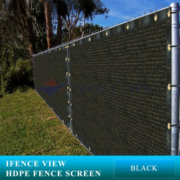 Ifenceview 10'x3'-10'x100' Green Fence Privacy Screen Mesh Awning Canopy Patio