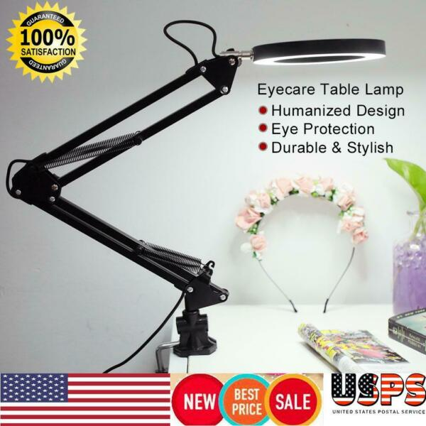 Desk Lamp Flexible Swing Arm Clamp Mount Table Light Reading Home Office Study