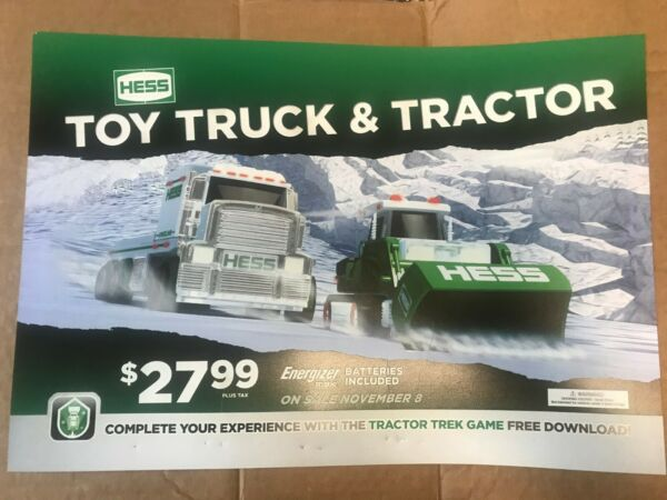 Hess 2013 Toy truck and Tractor Sign 19.5