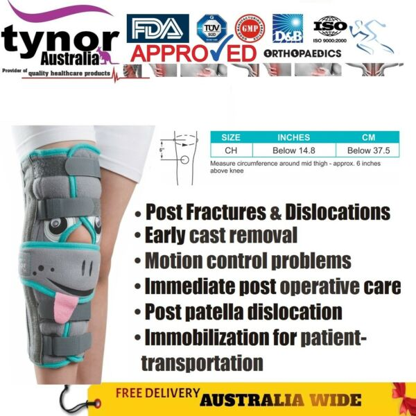 Tynor™ Paediatric Knee Immobilizer Cast Removal amp; Fracture Post Ops Child Brace