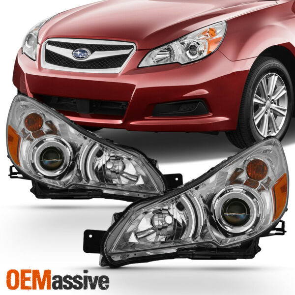 Fit 2010-2014 Subaru Legacy Outback Headlights Lamps Replacement Left+Right