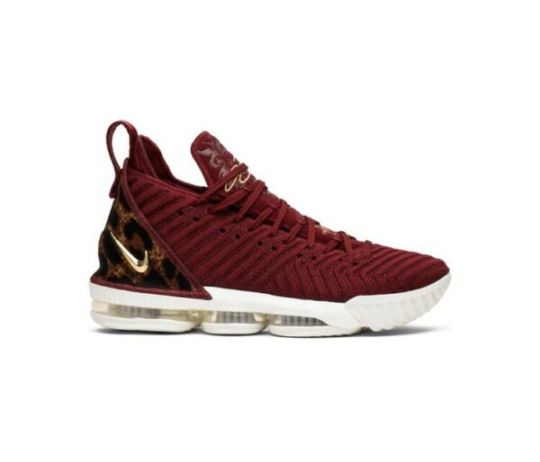 Nike LeBron 16 XVI THE KING Red Gold Leopard Mens Size 13.5 Sneakers AO2588-601
