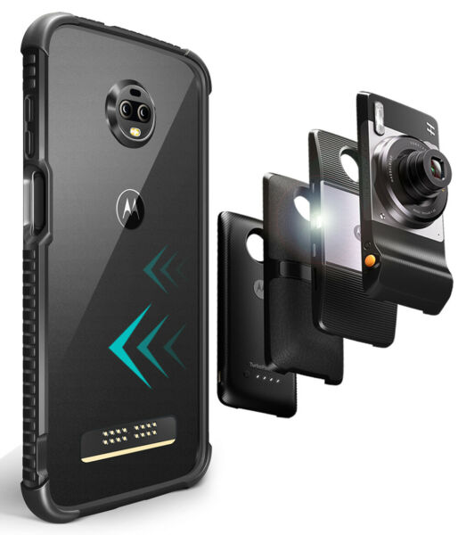 Motorola Moto Z3Z3 Play Protective Bumper Case Cover Compatible With Moto Mods