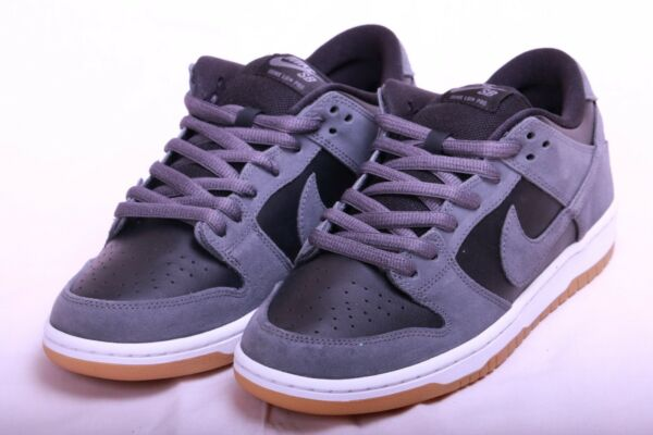 Nike Mens SB Dunk Low Dark Grey Black White Gum TRD AR0778 001 Size 9.5
