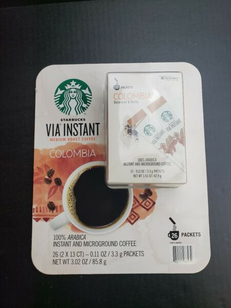 Starbucks VIA Ready Brew Colombia 100%Arabica Instant Coffee 26 packets