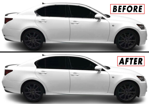 2013-2019 Lexus GS 350 450h GS F Chrome Trim Delete Kit Blackout Overlays