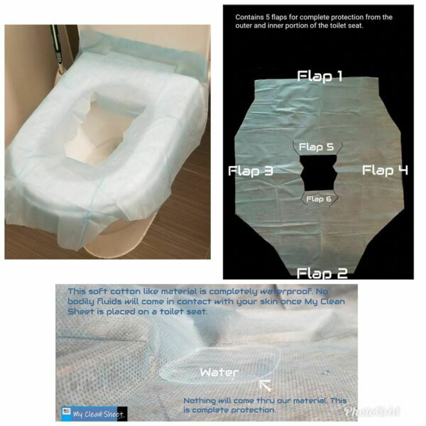 Disposable Waterproof Toilet Seat Covers by My Clean Sheet $3.69