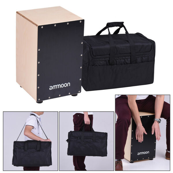 ammoon Wooden Cajon Box Drum Hand Drum Birch Wood with Bag for Adults Y0S2