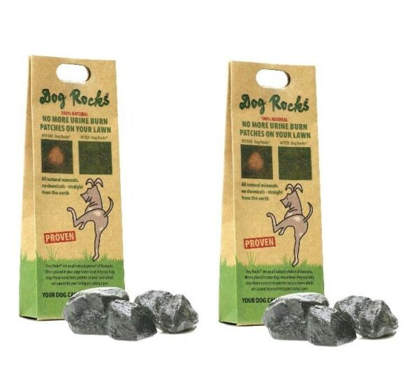 DOG ROCKS - SET OF (2) .44 LB Help Stop Pet Urine Lawn Patches (4 Month Supply!)