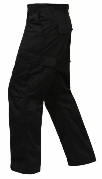 BLACK ROTHCO 2971 RELAXED FIT MENS Military Zipper Fly BDU Cargo Fatigue S TO 5X
