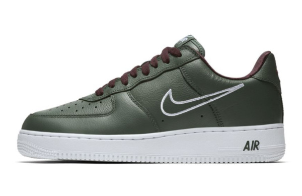 MEN'S NIKE AIR FORCE 1 LOW RETRO HONG KONG SHOES deep forest white 845053 300