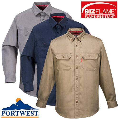Portwest Flame Resistant FR Button Down Work Shirt ARC 2 Bizflame All Sizes $52.65