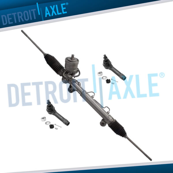 Power Steering Rack and Pinion 2 New Outer Tie Rod for Grand Prix w MAGNASTEER $170.95