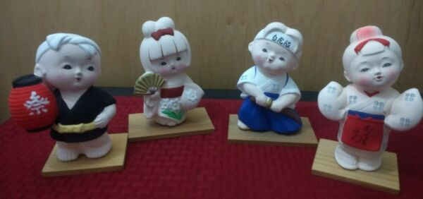 Hakata dolls delicate clayJapanese vintagenice mix of characters
