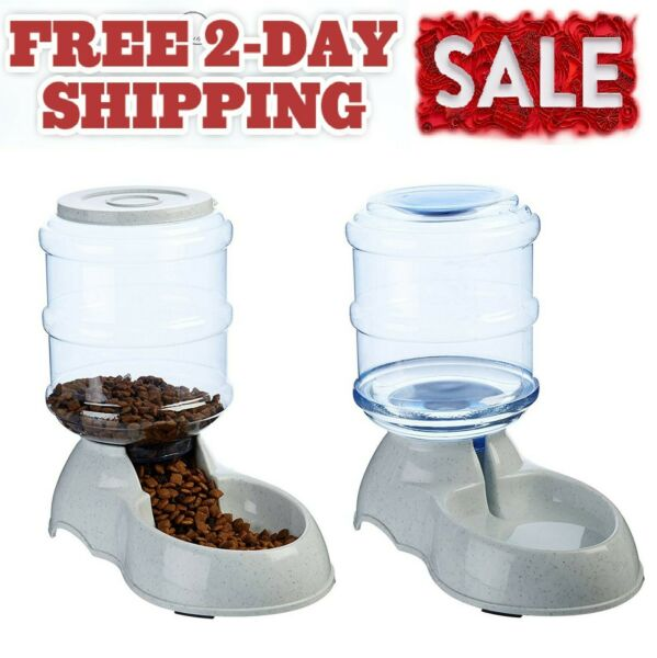 Automatic Dogs Water Dispenser Water Bowl Drinking Fountain for Dogs 1 Gallon $20.79