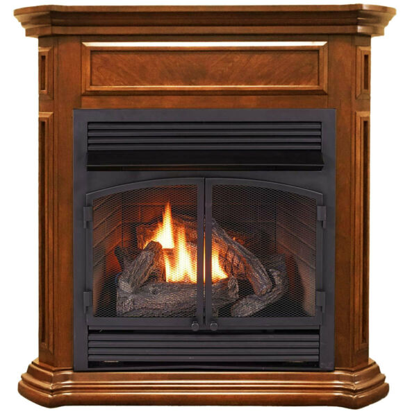 Duluth Forge Dual Fuel Ventless Gas Fireplace - 32000 BTU T-Stat Control