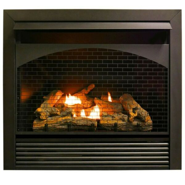 Procom FBNSD32RT 32quot; Gas Fireplace Insert With Remote Control Zero Clearance