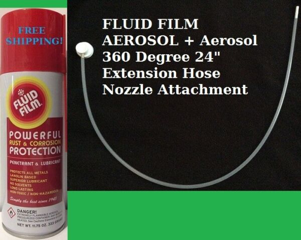 FLUID FILM AS11 11.75 OZ. AEROSOL 6 CAN PACK + 360° EXTENTION HOSE SHIPS FREE
