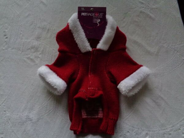 Petrageous Designs Ho Ho Christmas Dog Extra Small Coat Sweater $9.99