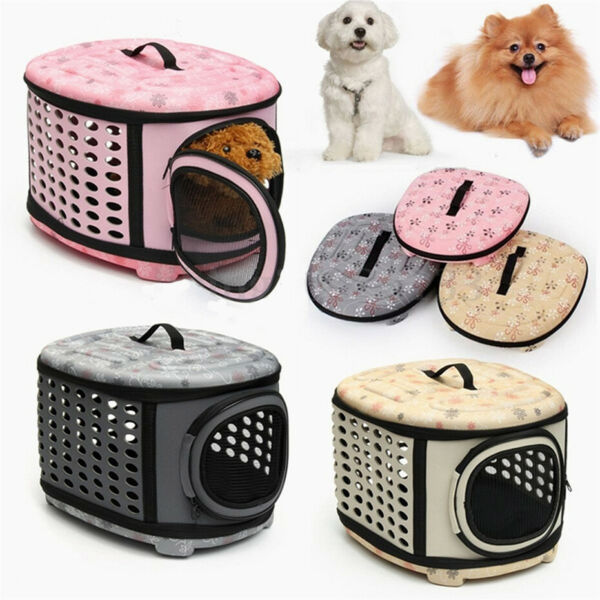 Fashion Portable Outdoor Travel Dog Bag Out Folding EVA Pet Bag Box Shoulder Bag $8.59