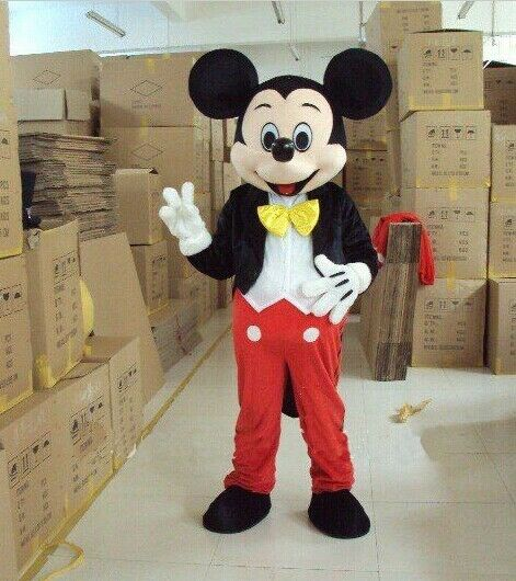 【Top Sale】Hot Mickey Mouse Mascot Costume Adult Size Party Dress Suit Halloween
