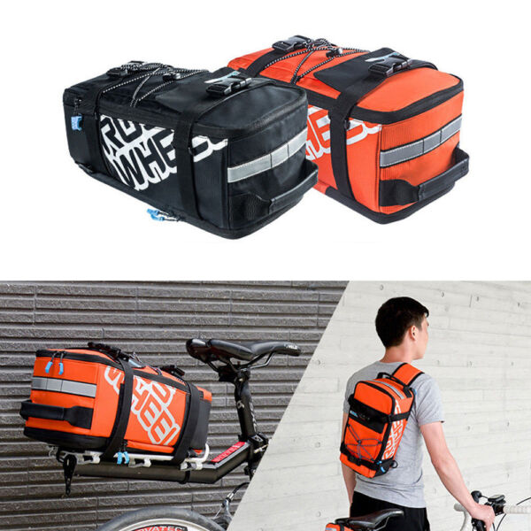 Bicycle Bike Trunk Bag MTB Road Cycling Rack Rear Seat Pannier Bag Storage Bag $43.37
