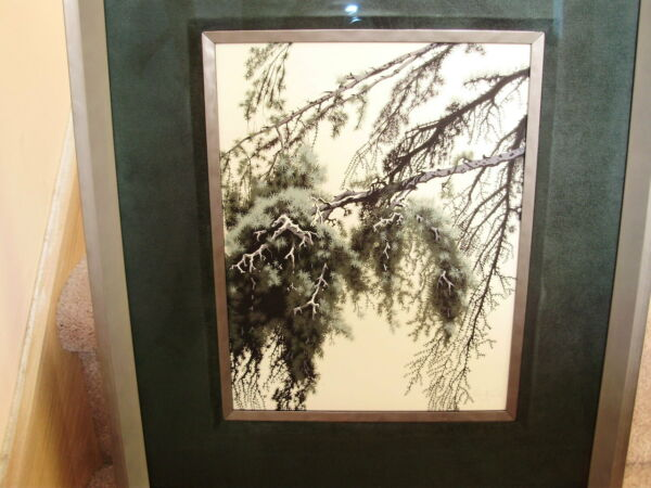 EYVIND EARLE original painting PINE BRANCH