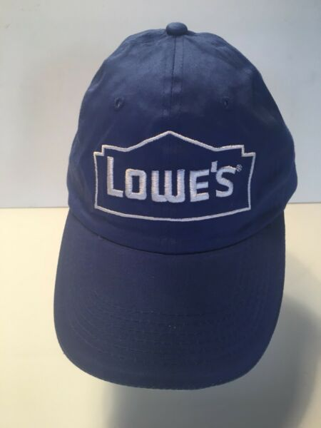 Trucker Hat Baseball Cap Blue with Lowe's in white lettering on front Adjustable