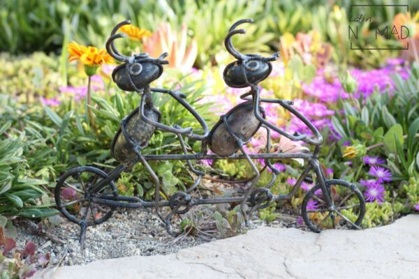 Tandem Ant Rider Patio and Garden Decor Couple Ants in Bicycle $12.99