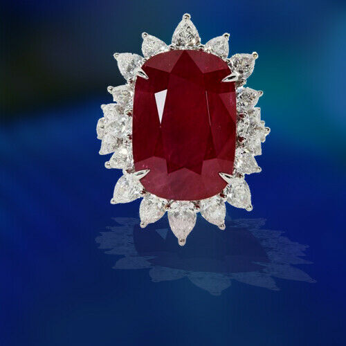 Impressive 24.64 Carat Ruby and Diamond Ring
