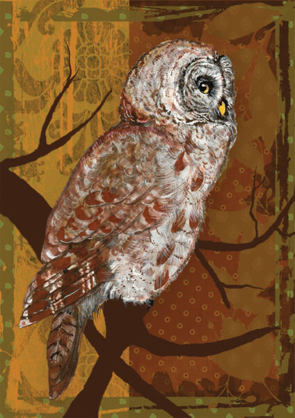 NEW LARGE TOLAND FLAG THE NIGHT OWL SIZE 28 X 40 GREAT AUTUMN OR WINTER