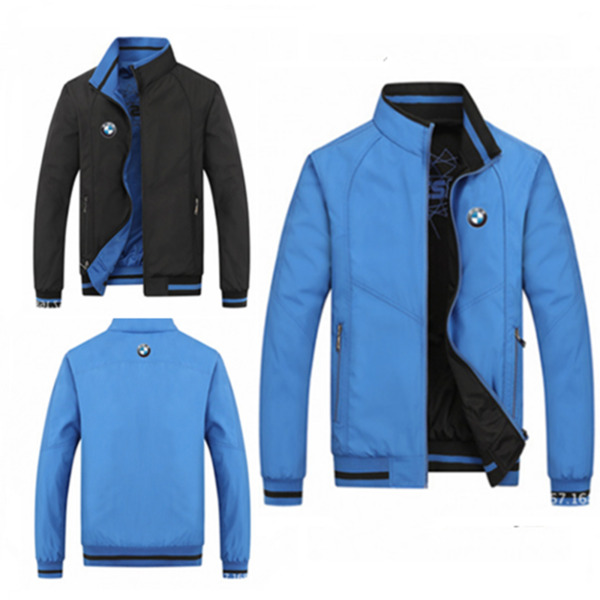 Hot! 2019 New spring and autumn season blue jacket for BMW fashion leisure coat $20.99