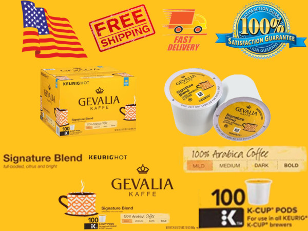 Gevalia Signature Blend Coffee K-CUP Pods Keurig 100 Count 100% Mild Arabica