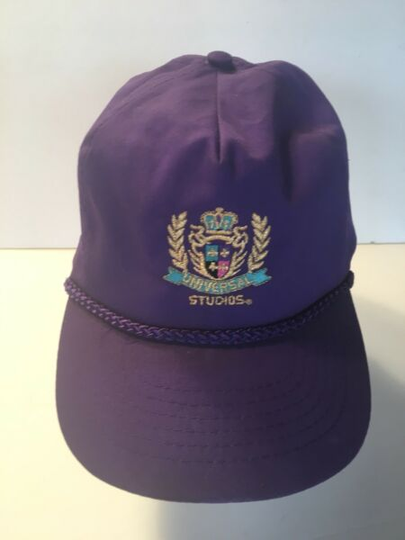 Trucker Hat Baseball Cap Universal Studios Purple with Gold lettering Adjustable