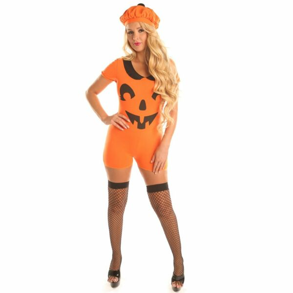 Pretty Pumpkin Costume for Teen Girl Women Halloween Party Cospaly Suits $19.99