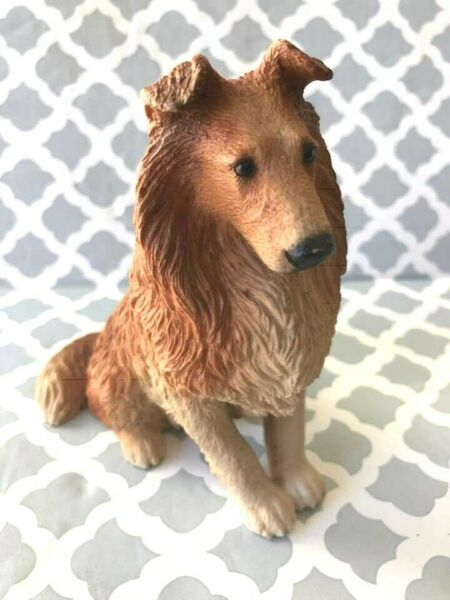 CASTAGNA Large Resin Collie Dog made in Italy 1987 $35.00