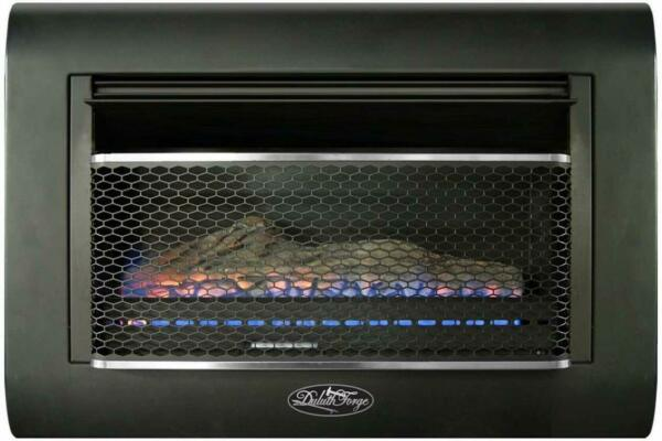 Duluth Forge DF300L Ventless Linear Wall Gas Fireplace - 26000 BTU T-STAT