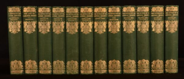 1924 12vol Novels of the Sisters Bronte Jane Eyre Wuthering Heights Illustrated