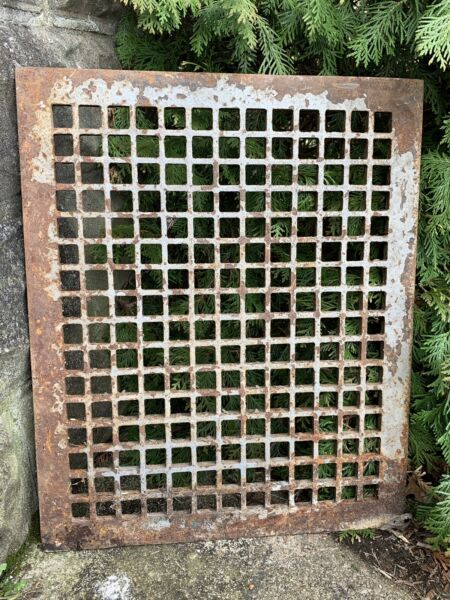 Large Heavy Victorian Style Cast Iron Grate Fireplace Architecture Garden #2