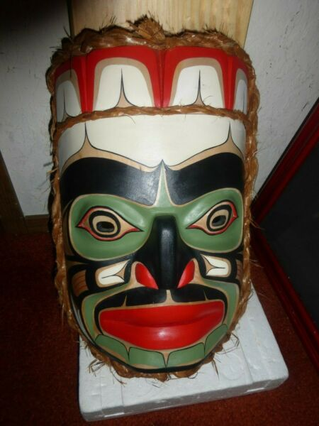 Northwest Coast Salish Deep Hand Carved Cedar