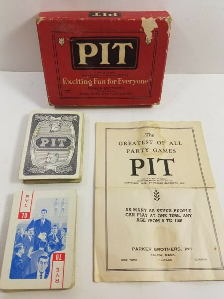 Pit Game By Parker Brothers With Instructions Original Box * Vintage *