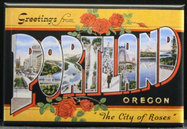 Greetings From Portland Vintage Postcard 2