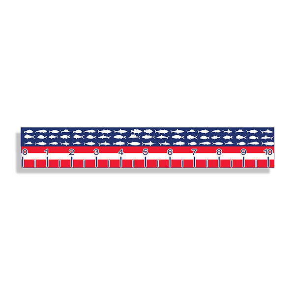 USA Fish Ruler Sticker Measuring Tape Measure Fishing Decal Boat Boating RWB US $7.59